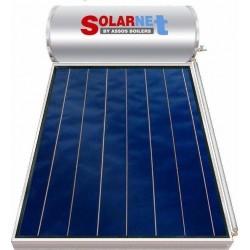 Assos Solarnet Ηλιακός SOL 120 (lt) glass με συλλεκτική επιφάνεια 2m² διπλής ενεργείας (12 Άτοκες Δόσεις)