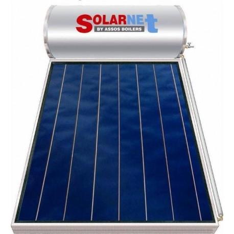 Assos Solarnet SOL 200/2,5m² Glass Hλιακός Θερμoσίφωνας Επιλεκτικός Διπλής Ενέργειας
