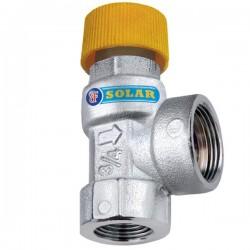 """Βαλβίδα ασφαλείας ηλιακών Brass form 33 1/2"""" x 3/4""""   3/6 bar"""