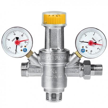 """Μειωτής πίεσης Brass Form με σύνδεση 1/2"""" ή 3/4"""""""