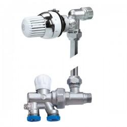 Διακόπτης Brass Form εξωτερικού βρογχου σπαστός με θερμοστατική κεφαλή micro form by-pass Simple 690