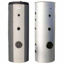 Cosmosolar BLGLL 300 boiler 300 λίτρα καθετο μπόιλερ glass λεβητοστασίου τριπλής με δύο εναλλάκτες και ηλεκτρική αντίσταση 4Kw