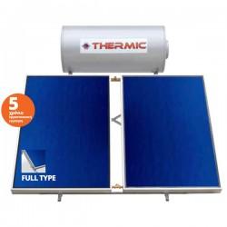 Thermic ct gl 300 lt glass διπλής με 2 επιλεκτικoύς συλλέκτες 5,00m² ταράτσας