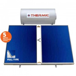 Thermic ct gl 300 lt glass τριπλής με 2 επιλεκτικoύς συλλέκτες 5,00m² ταράτσας
