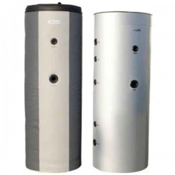 Cosmosolar δοχείο αδρανείας με ανοξείδωτη σερπαντίνα για ζεστό νερό χρήσης με δύο εναλλάκτες COS-1-DA 1000 INOX (882 lt)