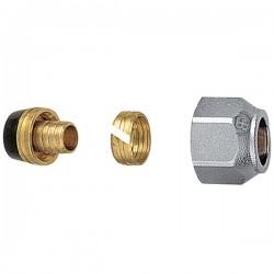 Brass form σύνδεση πλαστικής σωλήνας (pex) με ουρά και δαχττυλίδι Φ18 x 2 | Φ18 x 2,5 ,σπείρωμα ρακόρ 24 x 19