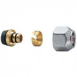 Brass form σύνδεση πολυστρωματικής σωλήνας (Al pex) 00-02-03  με ουρά και δαχττυλίδι Φ18 x 2 ,σπείρωμα ρακόρ 24 x 19