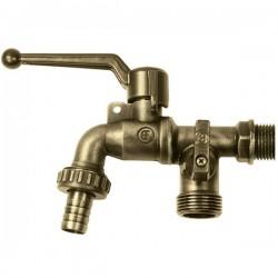Brass Form 2565 Status form κάνουλα διπλής παροχής με λουκέτο και χειρολαβή bronze