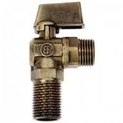 Brass Form 2110 Status form γωνιακός σφαιρικός διακόπτης σπιράλ διάσταση ½ x ½ με σπείρωμα μακρύ 28 mm bronze