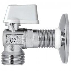 Brass Form 415 Status γωνιακός σφαιρικός διακόπτης πλυντηρίου διάσταση ¾ x ½ με σπείρωμα μακρύ 28 mm