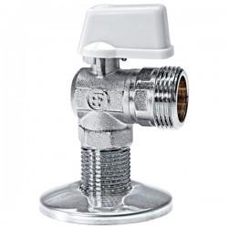Brass Form 212 Status γωνιακός σφαιρικός διακόπτης πλυντηρίου διάσταση ¾ x ½ με σπείρωμα μακρύ 28 mm
