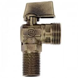 Brass Form 2120 Status γωνιακός σφαιρικός διακόπτης πλυντηρίου διάσταση ¾ x ½ με σπείρωμα μακρύ 28 mm