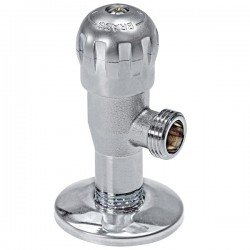 Brass Form 214 Fino γωνιακός διακόπτης περιστροφικού μηχανισμού με διάσταση ½ x ½ χρωμέ