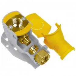 Brass Form 8822 smart form set γωνία υδροληψίας ορειχάλκινη (Al-Pex) με πλαστική βάση και διάσταση 16 x 2