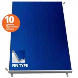 Thermic επιλεκτικός (FIN) ηλιακός συλλέκτης TS 2.50 ST με ανοδειωμένο αλουμίνιο 87mm Full Plate , επιφάνεια 2.50 m²