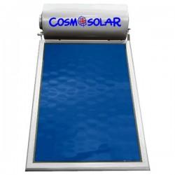 Ηλιακός θερμοσίφωνας Inox Cosmosolar CS-120VS τριπλής ενέργειας 120Lt Με 1 συλλέκτη – Επιφάνεια 2,00m²