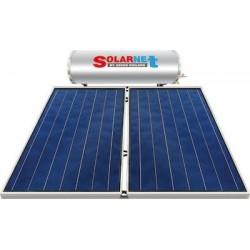 Assos Solarnet Ηλιακός SOL 200 E (lt) glass με συλλεκτική επιφάνεια 4 m² διπλής ενεργείας (12 Άτοκες Δόσεις)