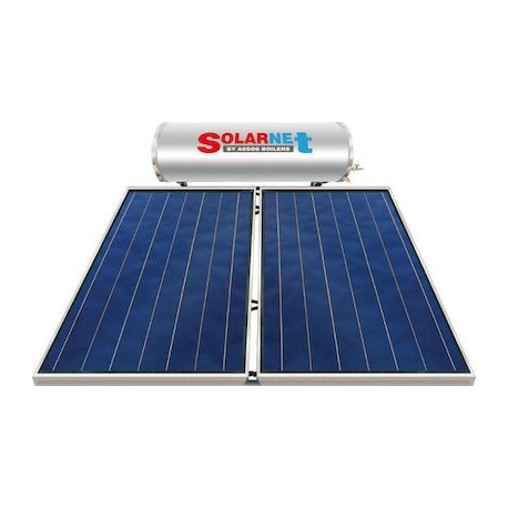 Assos Solarnet SOL 200E/4m² Glass Hλιακός Θερμoσίφωνας Επιλεκτικός Διπλής Ενέργειας