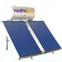 Nuevosol Ηλιακός NS-200/4.00 ΚΑΘ (200 lt) glass με 4.00 m² διπλής ενεργείας (12 Άτοκες Δόσεις)