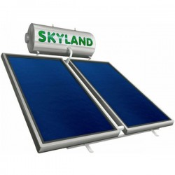 Skyland GL glass διπλής 170lt/3,10m² με 2 κάθετους επιλεκτικούς συλλέκτες