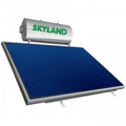 Skyland IN inox τριπλής 120lt/2,05m² με οριζόντιο επιλεκτικό συλλέκτη