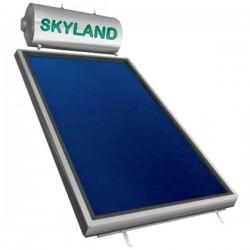 Skyland IN inox διπλής 170lt/2,58m² με κάθετο επιλεκτικό συλλέκτη