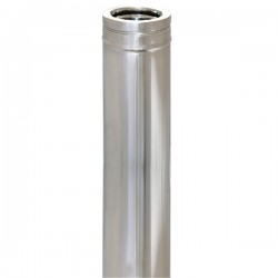 Technometal καπνοδόχος 0.25 m διπλού τοιχώματος Φ 80/130 με πάχος χάλυβα 0,40 mm