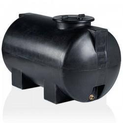 Stamatiou Plastics μαύρη δεξαμενή κυλινδρική οριζόντια 300 lt.