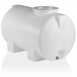 Stamatiou Plastics λευκή δεξαμενή κυλινδρική οριζόντια 800 lt.