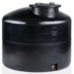 Stamatiou Plastics μαύρη δεξαμενή κυλινδρική κατακόρυφη 1000 lt.
