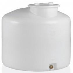 Stamatiou Plastics άσπρη δεξαμενή κυλινδρική κατακόρυφη 500 lt.