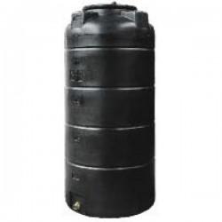 Stamatiou Plastics μαύρη δεξαμενή κυλινδρική κατακόρυφη 500 lt.