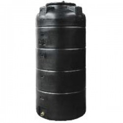 Stamatiou Plastics μαύρη δεξαμενή κάθετη στενή 1000 lt.
