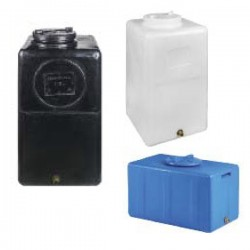 Stamatiou Plastics μαύρη δεξαμενή κάθετη / παραλληλεπίπεδη 110 lt.