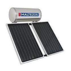 MALTEZOS MALT H 160Lt INOX Τριπλής Ενεργείας, 2 Επιλεκτικοί Συλλέκτες SAC 90X150