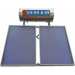 Ηλιακός WILCO 200Lt Glass Τριπλής Ενέργειας Με 2 Επιλεκτικούς Συλλέκτες 4m² (12 Άτοκες Δόσεις)