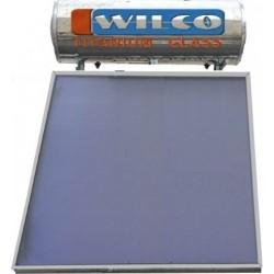 Ηλιακός WILCO 160Lt Glass Διπλής Ενέργειας Με 1 Επιλεκτικό Συλλέκτη 2,3m² (12 Άτοκες Δόσεις)