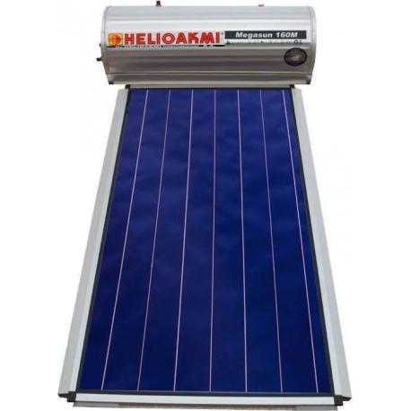 HELIOAKMI MEGASUN 160 LIT GLASS boiler ηλιακός Επιλεκτικός Διπλής 2,1τμ