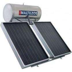 MALTEZOS MALT H 300Lt INOX Τριπλής Ενεργείας 2 Επιλεκτικοί Συλλέκτες 2 SAC 130x150  (12 άτοκες δόσεις)